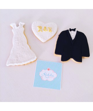 Galletas decoradas BODA 1