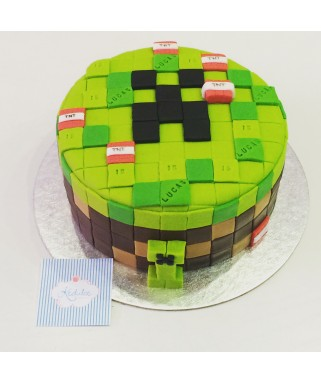 Tarta Fondant Mind Craft