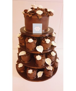 Tarta Boda chocolate