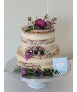 Naked cake Flores silvestres